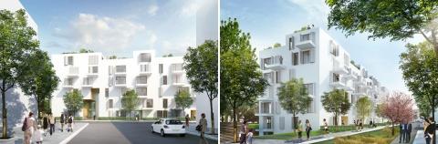 Soziales Wohnen am Pistoriusplatz - Entwurf: Kaden Klingbeil Architekten