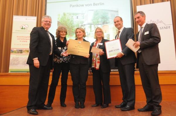 """Preisübergabe zum Wettbewerb """"Lebendige Stadt"""" 2013 in Leipzig"""