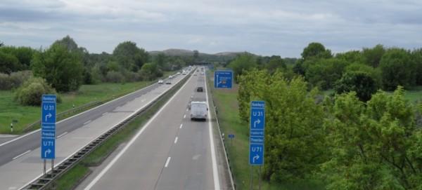 Autobahn A 114 Richtung Arkenberge