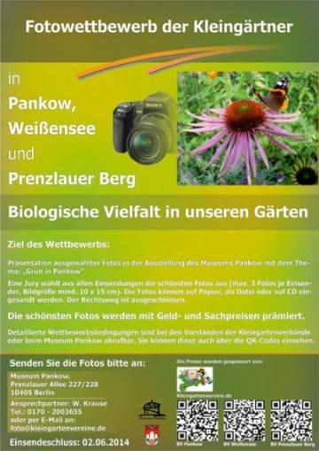 Fotowettbewerb der Kleingärtner in Pankow, Weißensee & Prenzlauer Berg