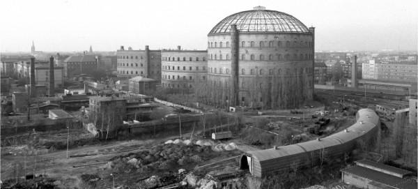 4. Berliner Gasanstalt an der Danziger Strasse im Dezember 1982