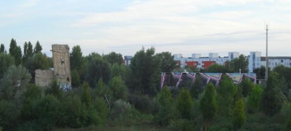 Blick auf den nördlichen Mauerpark