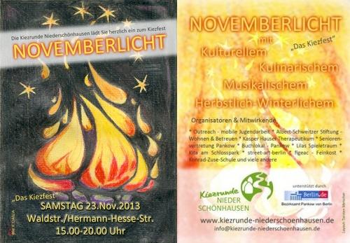 Novemberlicht 2013 - Kiezfest in Niederschönhausen