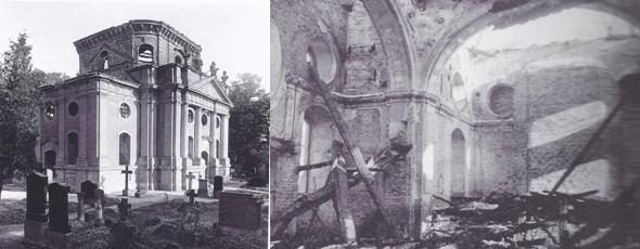 Schlosskirche Buch im Jahr 1943