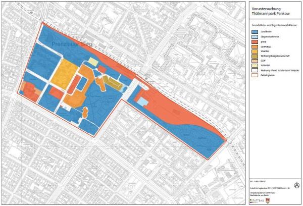 Voruntersuchung Thälmann Park: Eigentumsverhältnisse