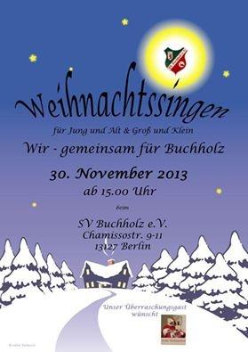Weihnachtssingen 2013 beim SV Buchholz