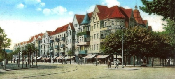 Wollankstrasse in Pankow um 1900 - Postkarte