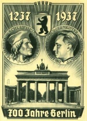 Postkarte: 700 Jahre Berlin 1237-1937