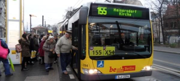 BVG Fahrplanänderungen: BUS 155 und X54