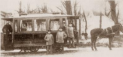 Pferdebahn in Französisch-Buchholz 1904