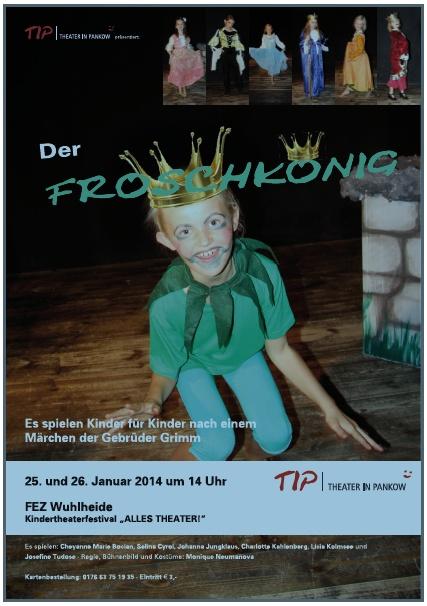 """TIP-Theater in Pankow: """"Der Froschkönig"""" - Plakat"""