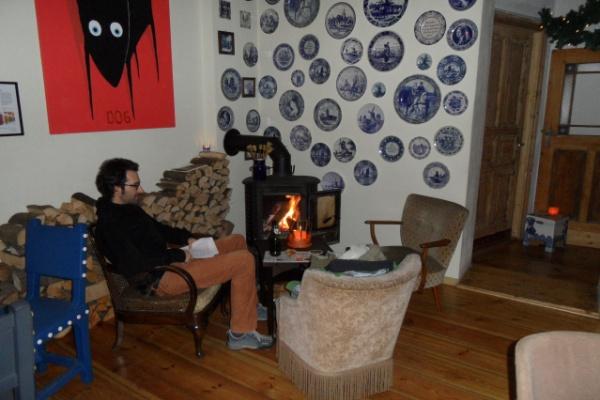 Café Linda Carell: Kaminecke