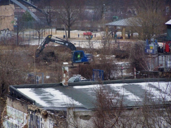 Rodungsarbeiten am Mauerpark am 3.2.2014