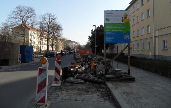 Kanal-Baustelle Ossietzkystraße