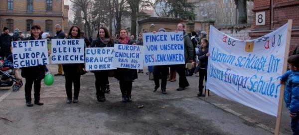 Demo am 5.3.2014 vor der BVV-Pankow