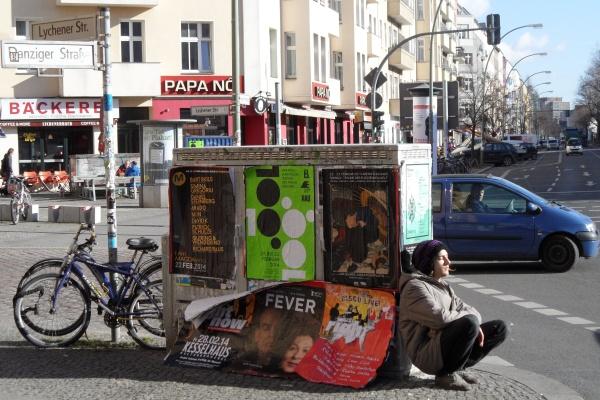 Erste Frühlingssonne in der Danziger Straße