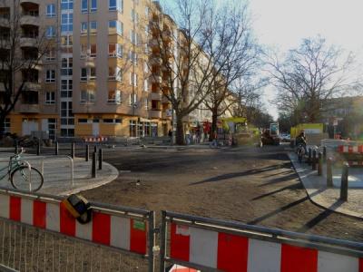 Gehwegvorstreckung am Kollwitzplatz
