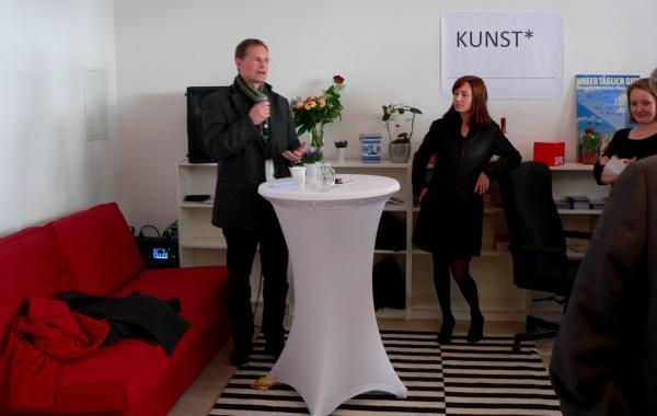 Stadtentwicklungssenator Michael Müller & Clara West am 15.3.2014