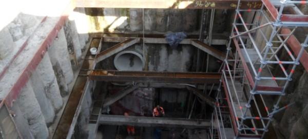 Baustelle: Stauraumkanalbau