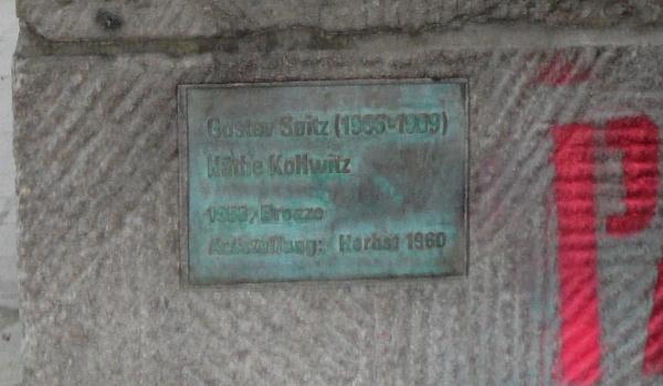 Werktafel am Käthe-Kollwitz-Denkmal