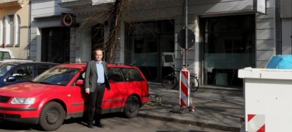 Andreas Otto (MdA) in der Raumerstraße