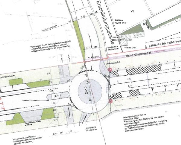 Vorzugsvariante Kreisverkehr - Plan: PSTt GmbH, Werder