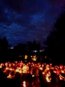 Osterfeuer im Bürgerpark
