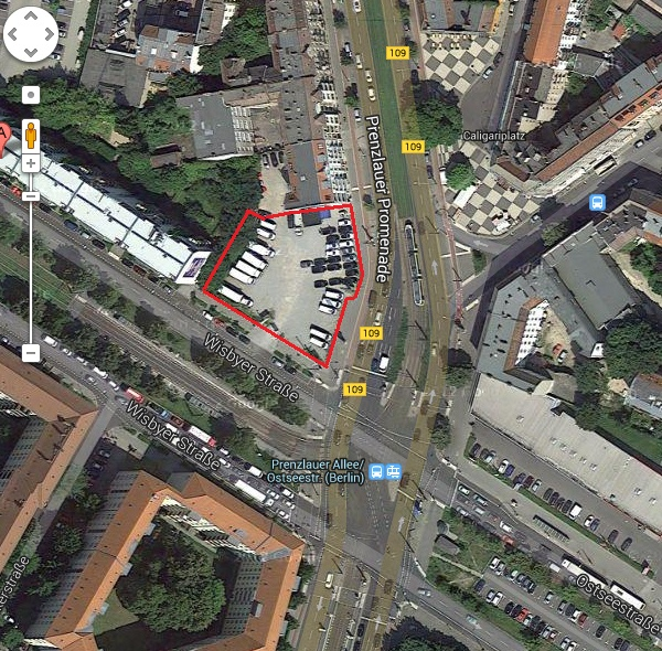 Baulücke: Wisbyer Ecke Prenzlauer Promenade