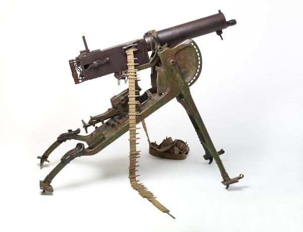 Schweres Maschinengewehr mit Lafette - Deutschland 1914