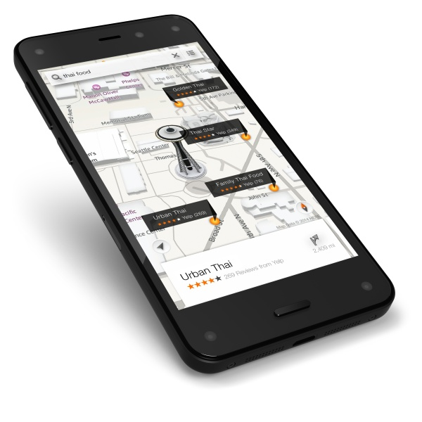 Amazon Fire PHONE: D-maps-yelp