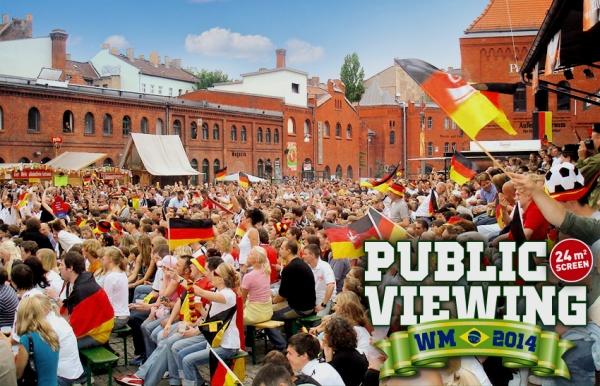 Public Viewing in der Kulturbrauerei