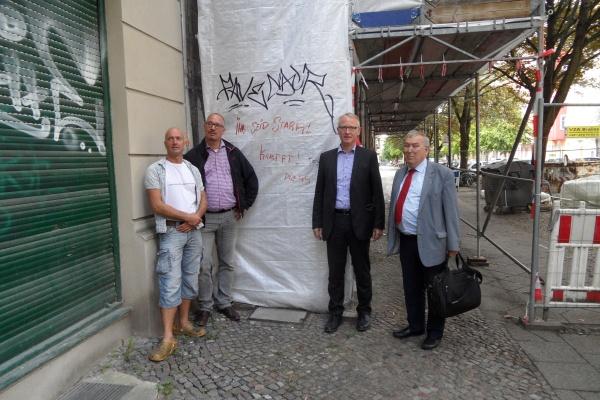 Besuch auf der Baustelle Kopenhagener Str. 46: