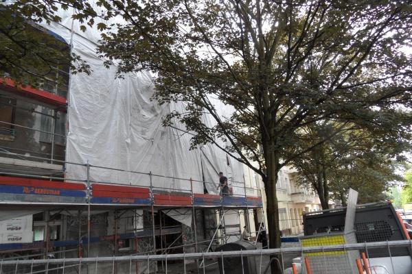Erneuerung der Baufolie am 14.8.2014