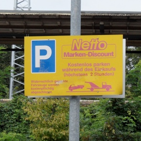 Netto - Parkplatz in Karow