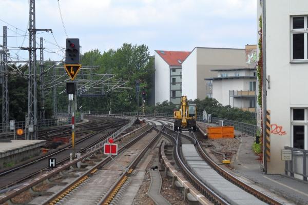 Stadtbahn erneuert am S-Bhf. Friedrichstrasse