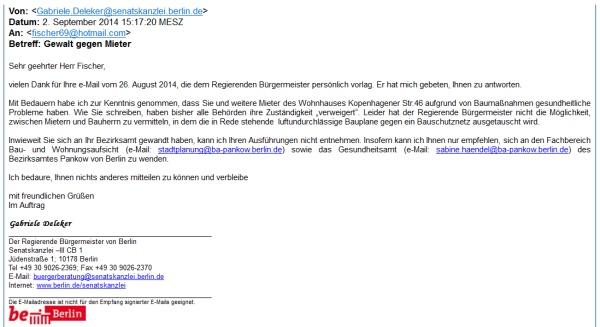 Mail von Klaus Wowereit