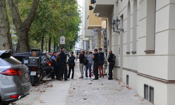 Polizeieinsatz am Wieland-Palais