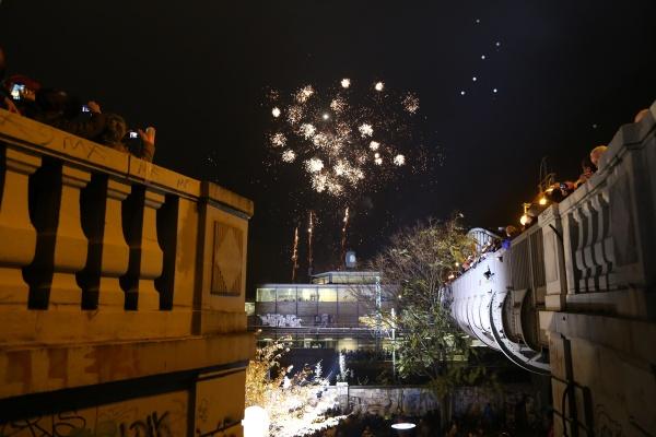 25 Jahre Mauerfall: Feuerwerk