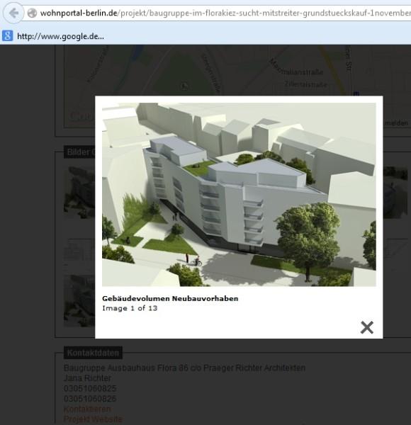 Entwurf: Baugruppe Florastr. 86