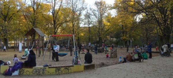 Spielplatz Humannplatz im Herbst 2014