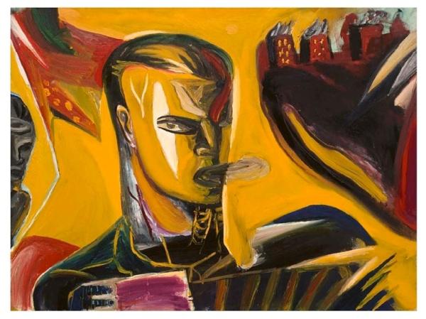 Klaus Killisch: Tango bis es weh tut - 1989, Öl auf Leinwand