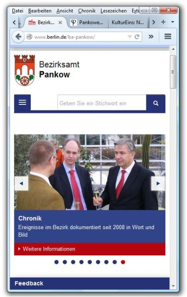 "Bezirksamt Pankow ""Screenshot"""