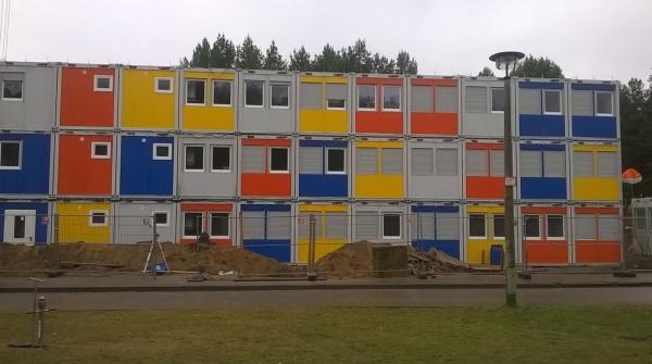 Container-Unterkunft in Köpenick