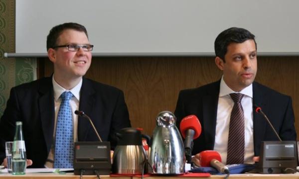 Florian Graf (MdA CDU) und Read Saleh (MdA SPD)