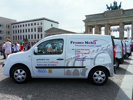 France Mobil am Brandenburger Tor