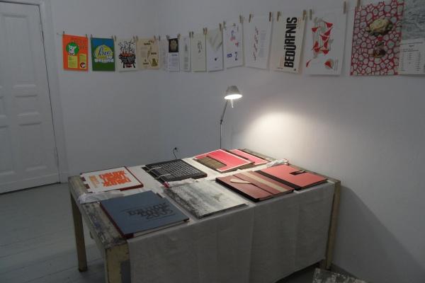 """Ausstellung """"DRUCKTOPF"""" im Atelier Schiegnitz"""