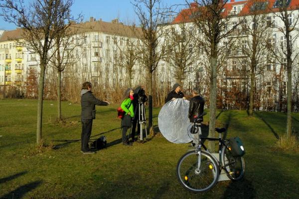 Filmteam dreht für 100% Mauerpark