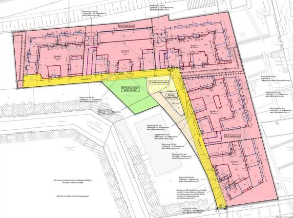 Bebauungsplan-Entwurf 1-64a VE: