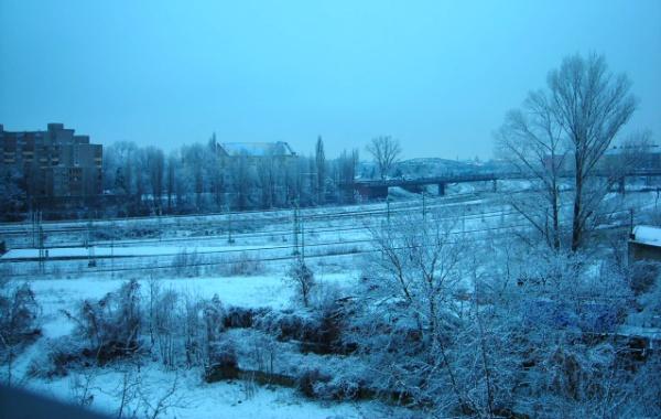 Mauerpark: Nordkreuz im Winter