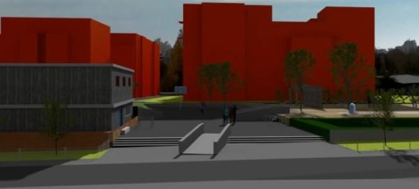 Mauerpark: Simulation der Bebauung am Moritzhof